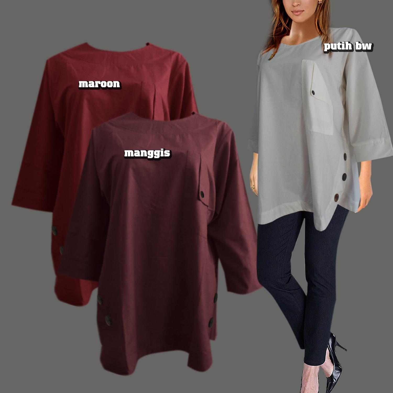 F G Baju Atasan Wanita   Blouse Wanita   Atasan Wanita Oval Batok Minimalis  - Jumbo 4L 096dbfb83d