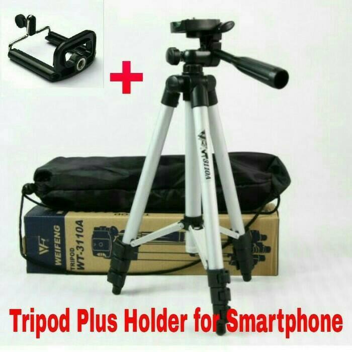 Tripod Weifeng WT-3110A Free Holder U For Smartphone HP Kamera DSLR