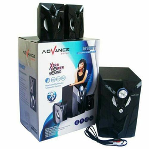 Speaker Advance Aktif Portable M10BT Bluetooth Subwoofer BASS Murah Hitam
