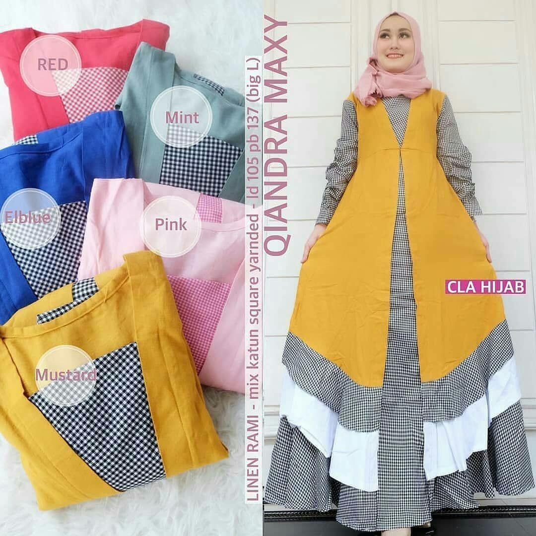 Gamis Qiandra Maxi Dress Balotelly Mix Cotton Pakaian Wanita Panjang Muslim Casual Baju Hijab Syar'I Modern Baju Gaun Pesta Modis Trendy Baju Model Terbaru