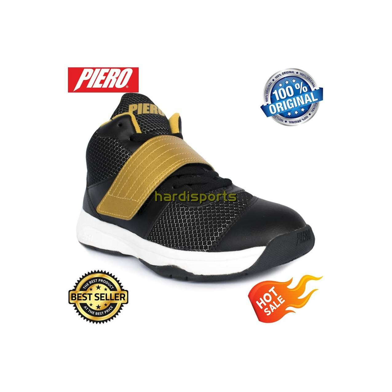 Sepatu Basket Pria Piero Onimaru P60153 - Black