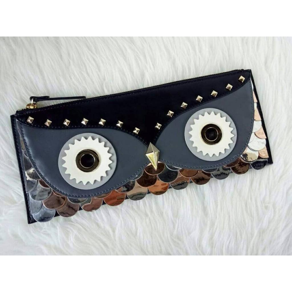 Kate Spade Wise Owl Clutch Nwt. Tas Clutch Bag Branded Original