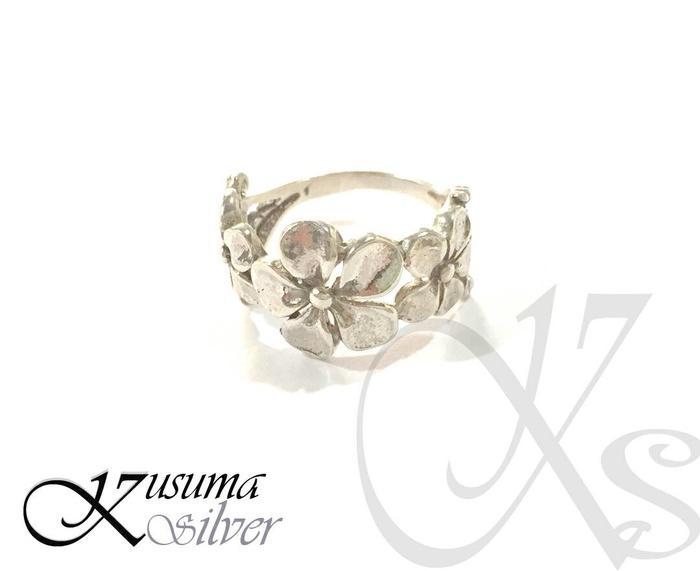 Cincin - Ring Perak - Silver Motif 3 Jepun