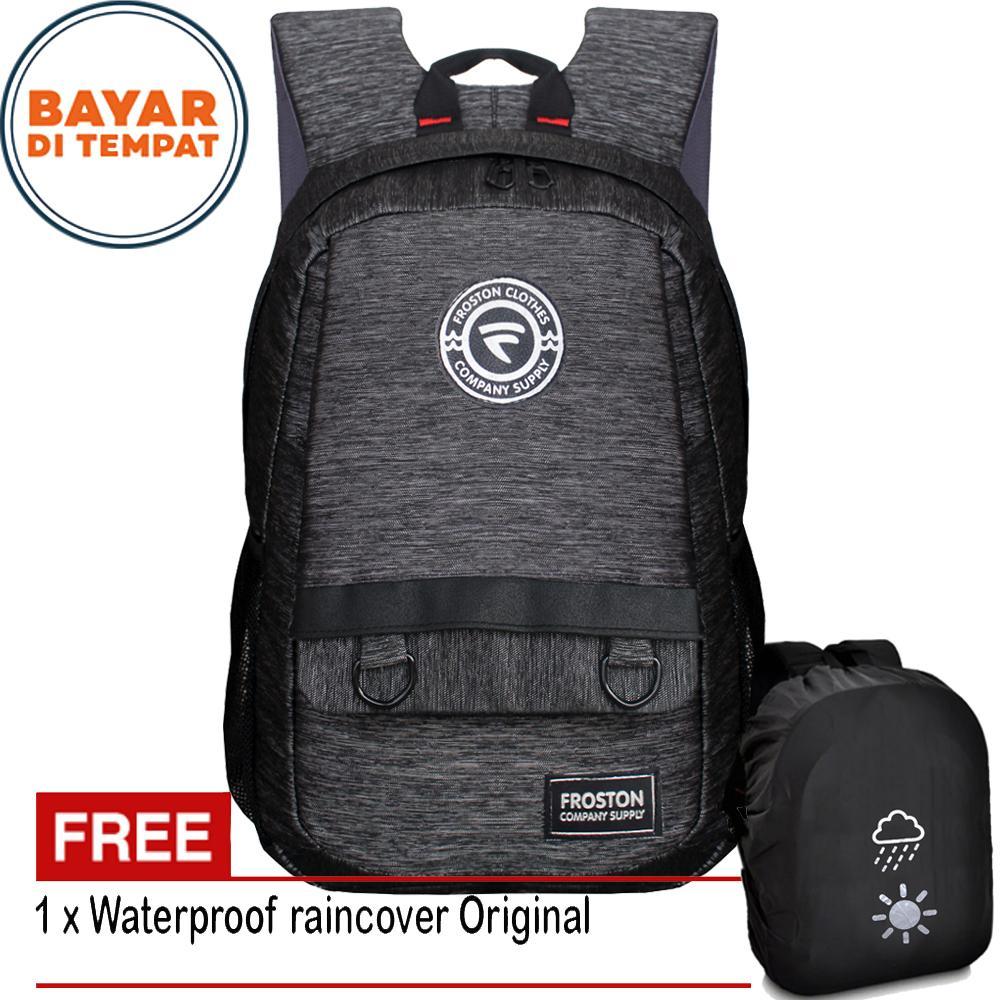 Tas Ransel Froston R-8100FS Tas Ransel Pria Tas Sekolah Tas Kuliah Tas Wanita Tas Laptop Backpack L