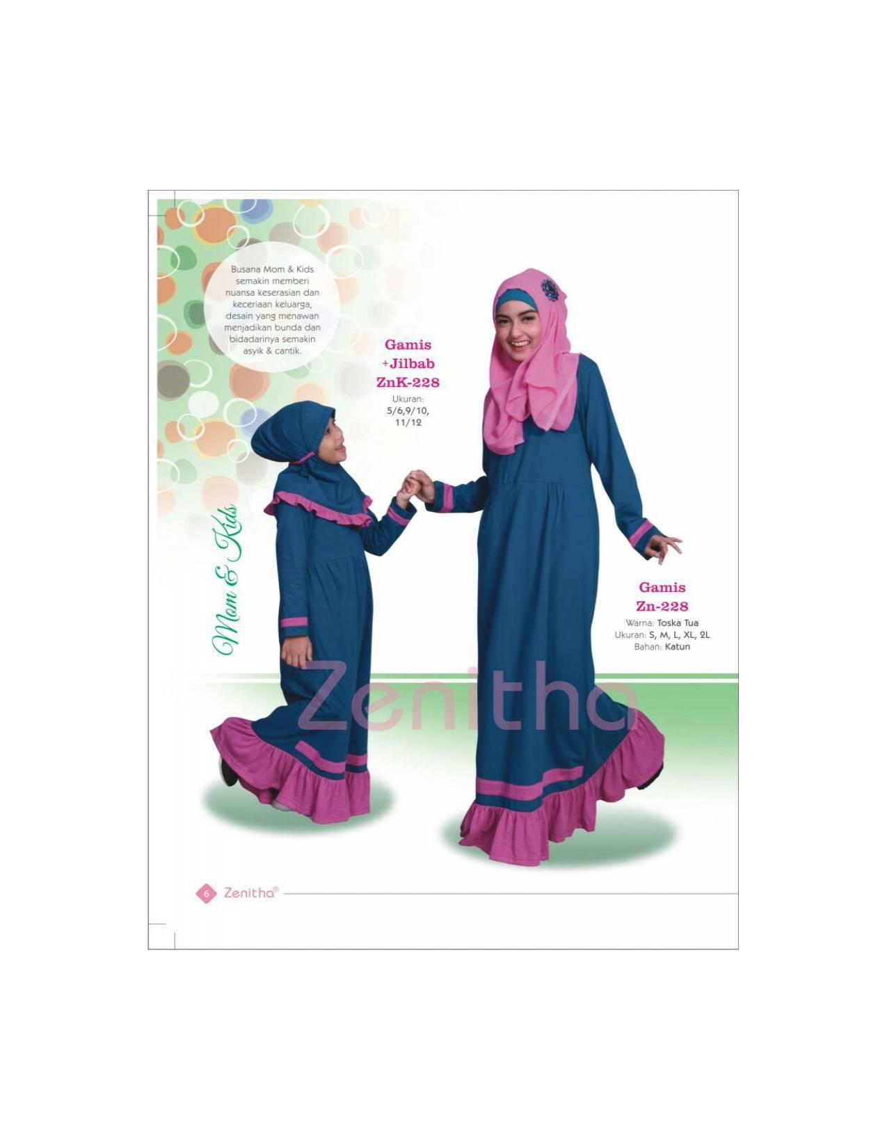 Gamis Anak ZENITHA - ZNK 228/Jual Baju Muslim Anak