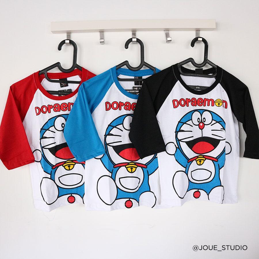 Amaris Fashion - Raglan Karakter Anak Doraemon - Kaos Anak Usia 3-5 Tahun - Tshirt Anak