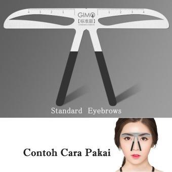 Pencarian Termurah JBS Penggaris Cetakan Alat Pembentuk Tatoo Alis 08 Standard Eyebrows eyebrow ruler Stainless K089