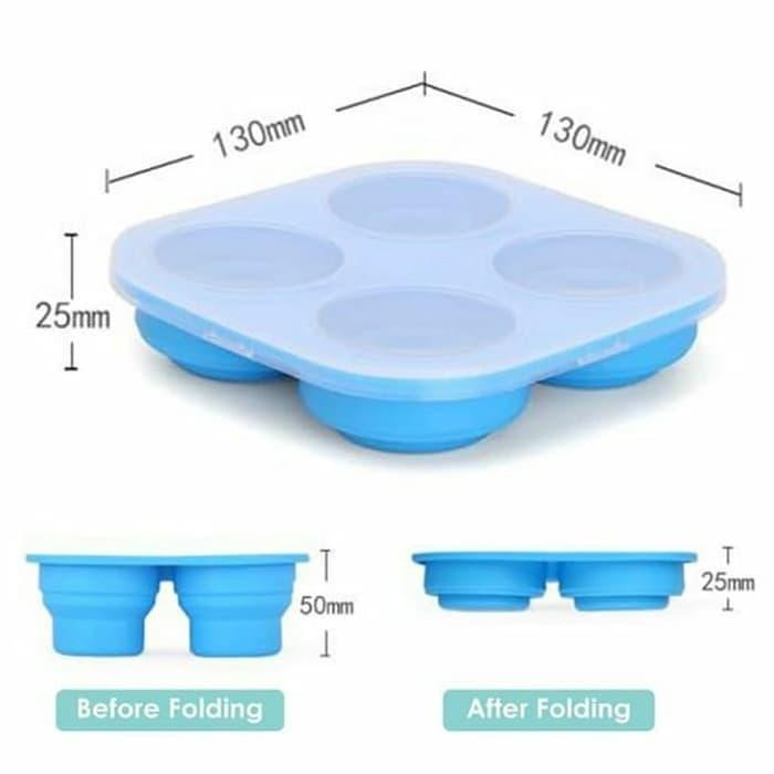 Hot Promo Babyqlo Collapsible Silicone Ice Cube Trays Fc8009 / Babyqlo Ice Cube By Aulia Najwa.
