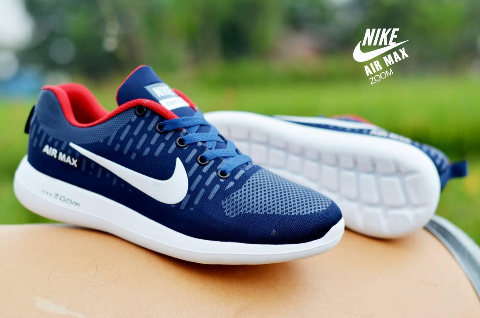 Jual Promo Sepatu Olaharaga Nike Zoom Max Fashion Pria warna navy
