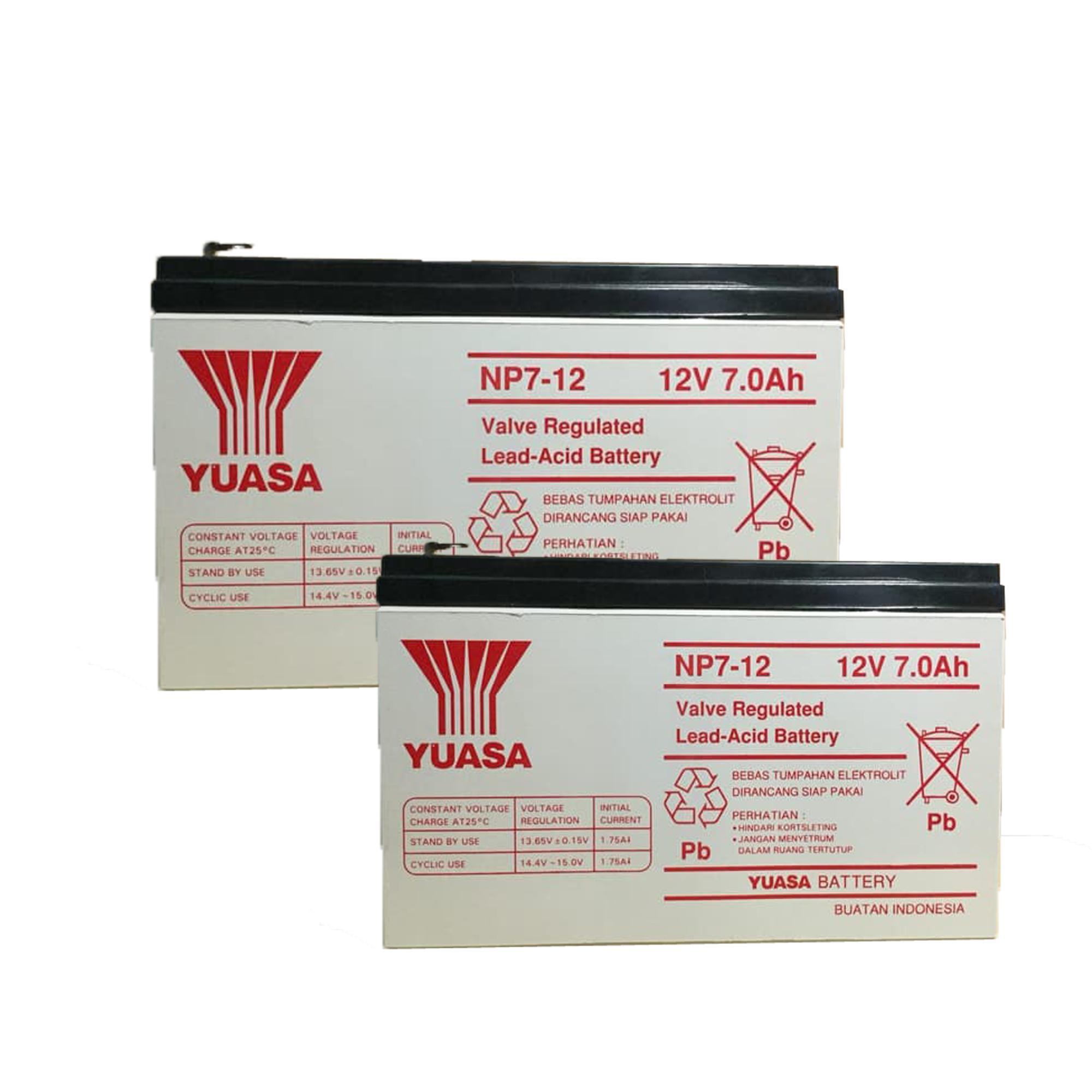 Panasonic Accu Kering Vrla 12v 72ah Untuk Ups Aki Lc V127r2na Battery Merk Ical Original Paket 2 Unit Baterai Yuasa 7ah Np 7 12