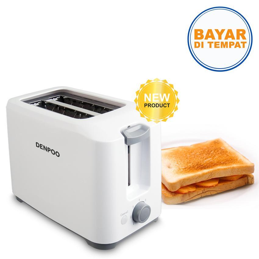 Denpoo DT 023D Toaster Double Slot Auto Pop Up - Putih