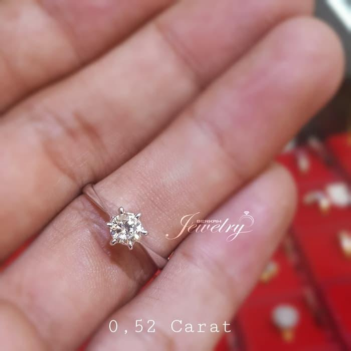 CINCIN Solitaire BERLIAN Natural Diamond Ring Emas 75 %