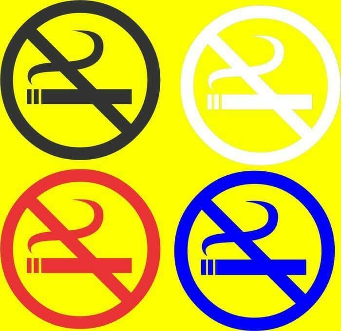 Sticker Cutting Motiif No Smoking