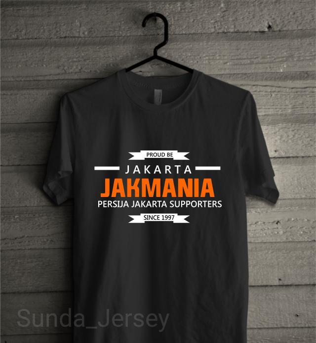 KAos Baju Combed 30S Distro Proud To Be Jakarta Persija Jakmania Suppo