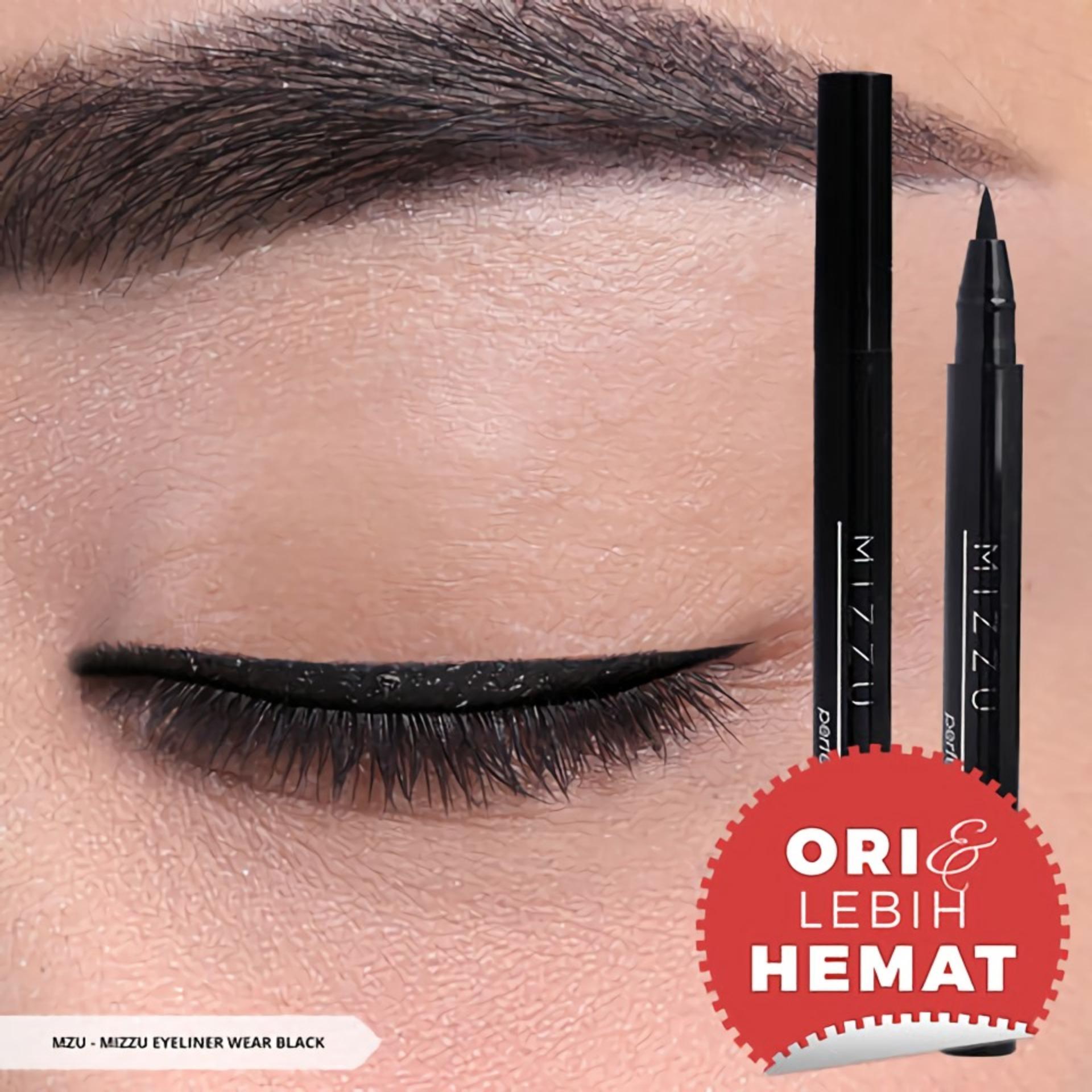 Mizzu Eyeliner Pen Perfect Wear (Black) - Warna Pigmented Eyeliner