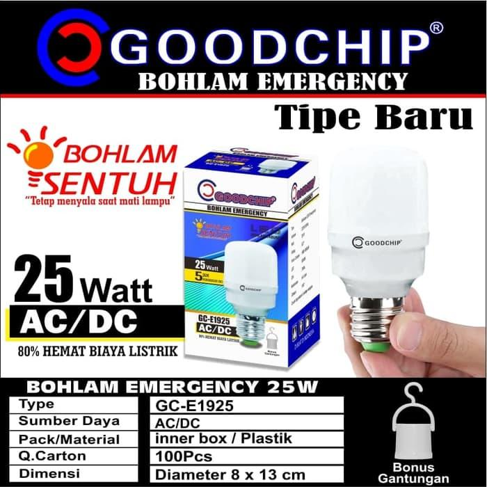 TERLARIS!!! Bohlam Led Lampu Emergency 25 Watt Merk Goodchip By Mitsuyama SEDIA JUGA Lampu led - Lampu tumblr - Lampu sepeda - Lampu bts - Lampu hias