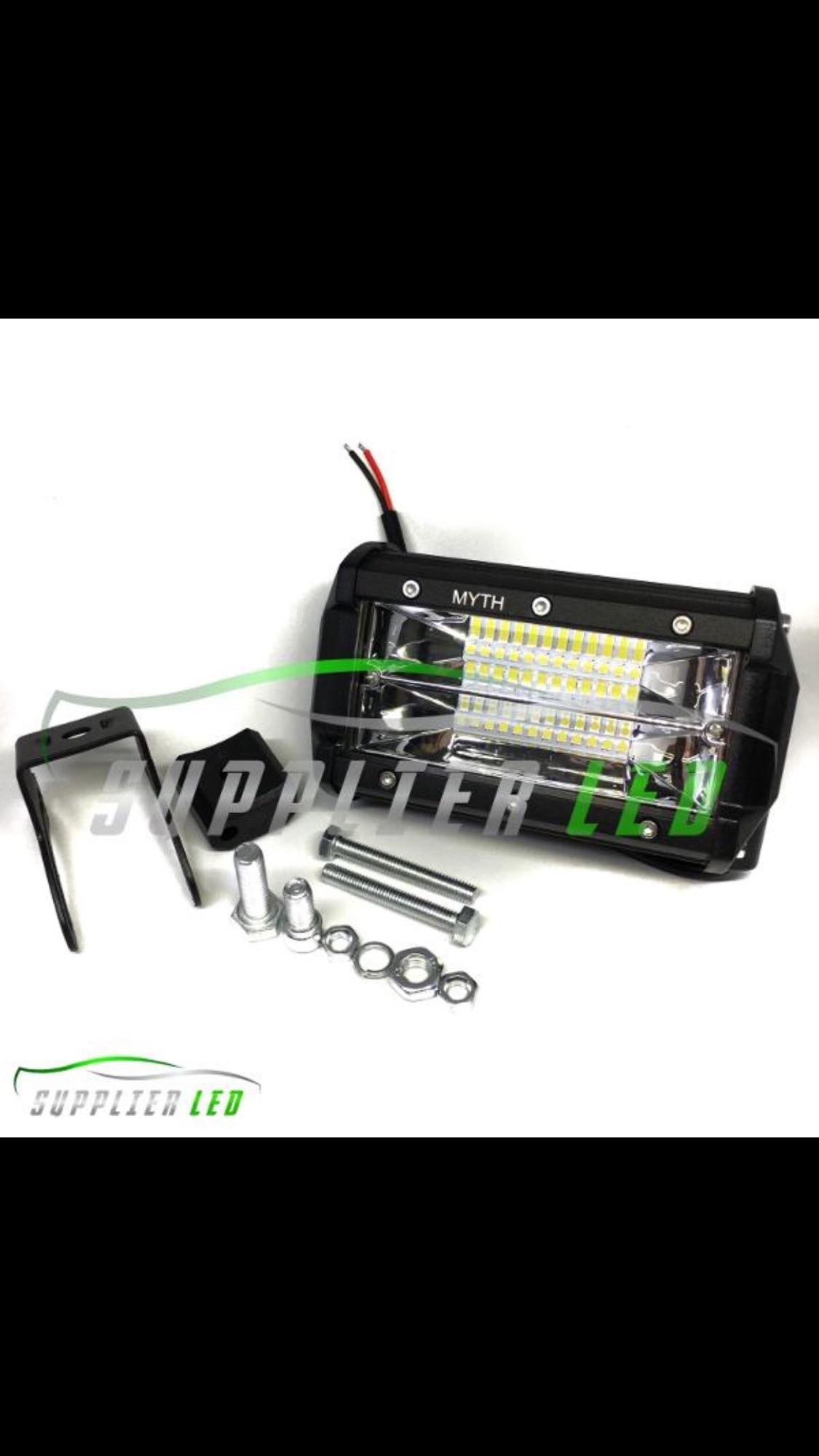 Lampu Tembak Sorot OFFROAD Motor Mobil LED Bar CREE 24 Titik Mata Dua Susun Wide Lens