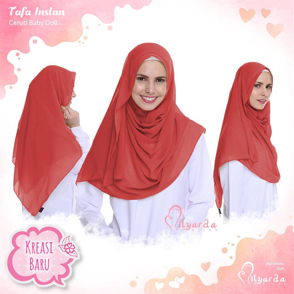 Milyarda Store Jilbab Instan Tafea Kerudung Premium - [Warna Merah]
