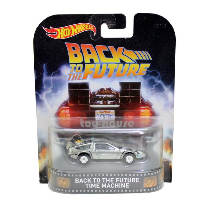 Mainan Anak Perempuan Laki Laki Hotwheels Retro BTTF Back To The Future Time Machine - Die Cast