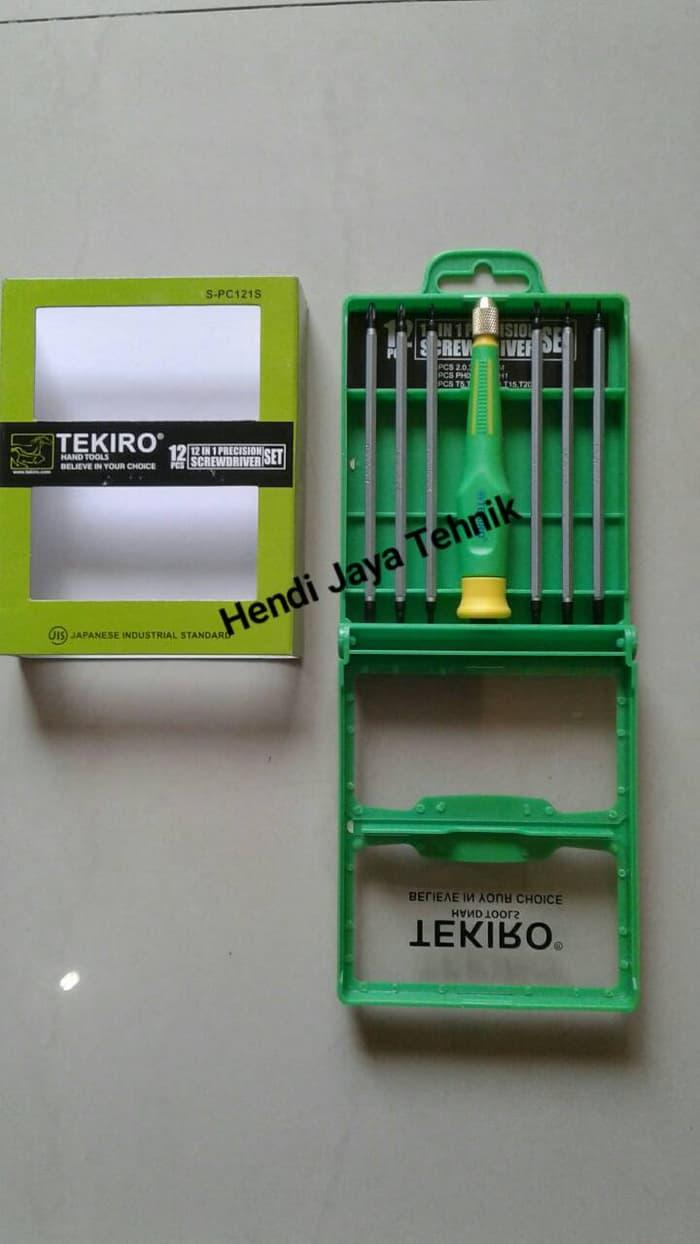 Buy Sell Cheapest Presisi Obeng Set Best Quality Product Deals Screwdriver Baut Tekiro 12 In 1