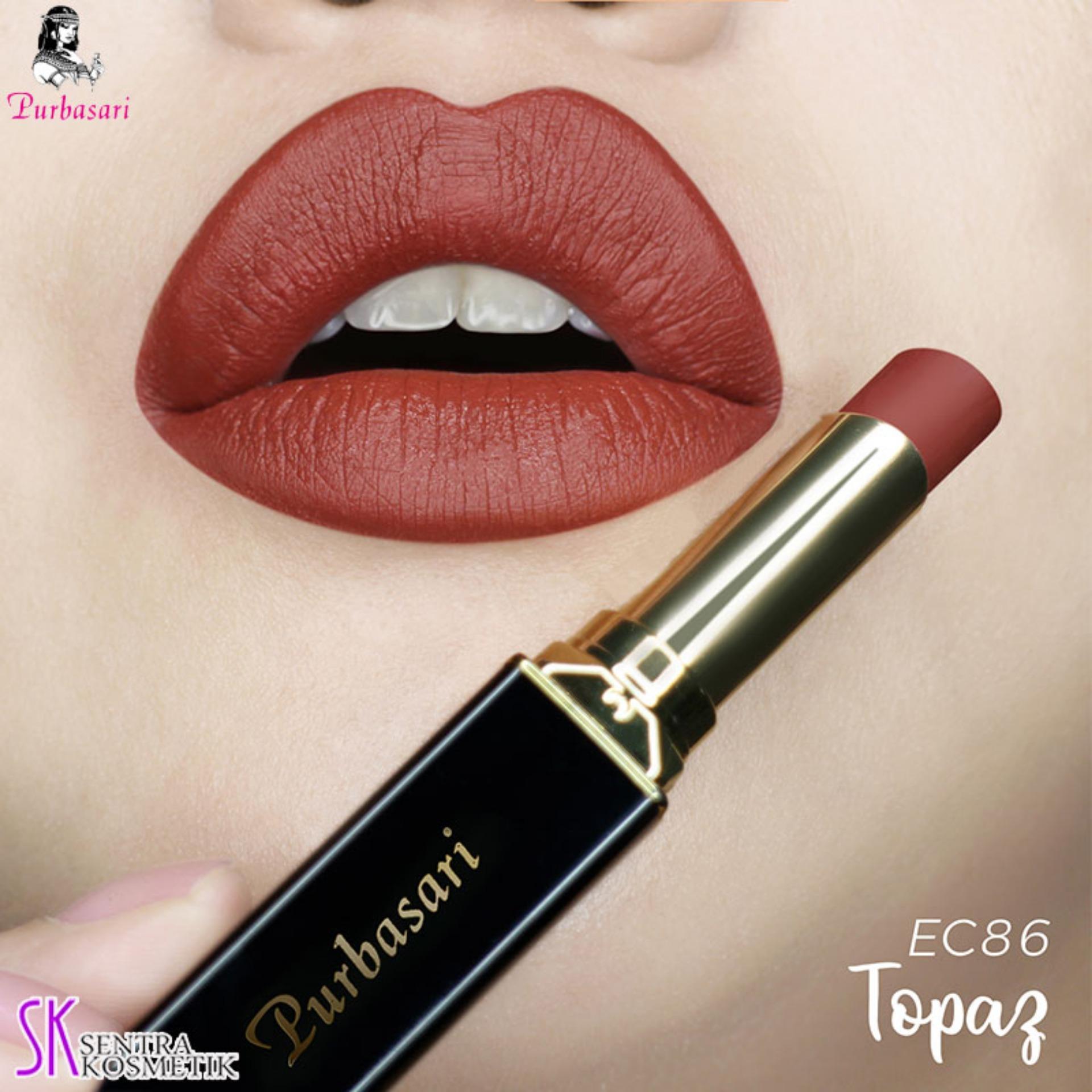 Purbasari Lipstick Collor Matte 86 TOPAZ
