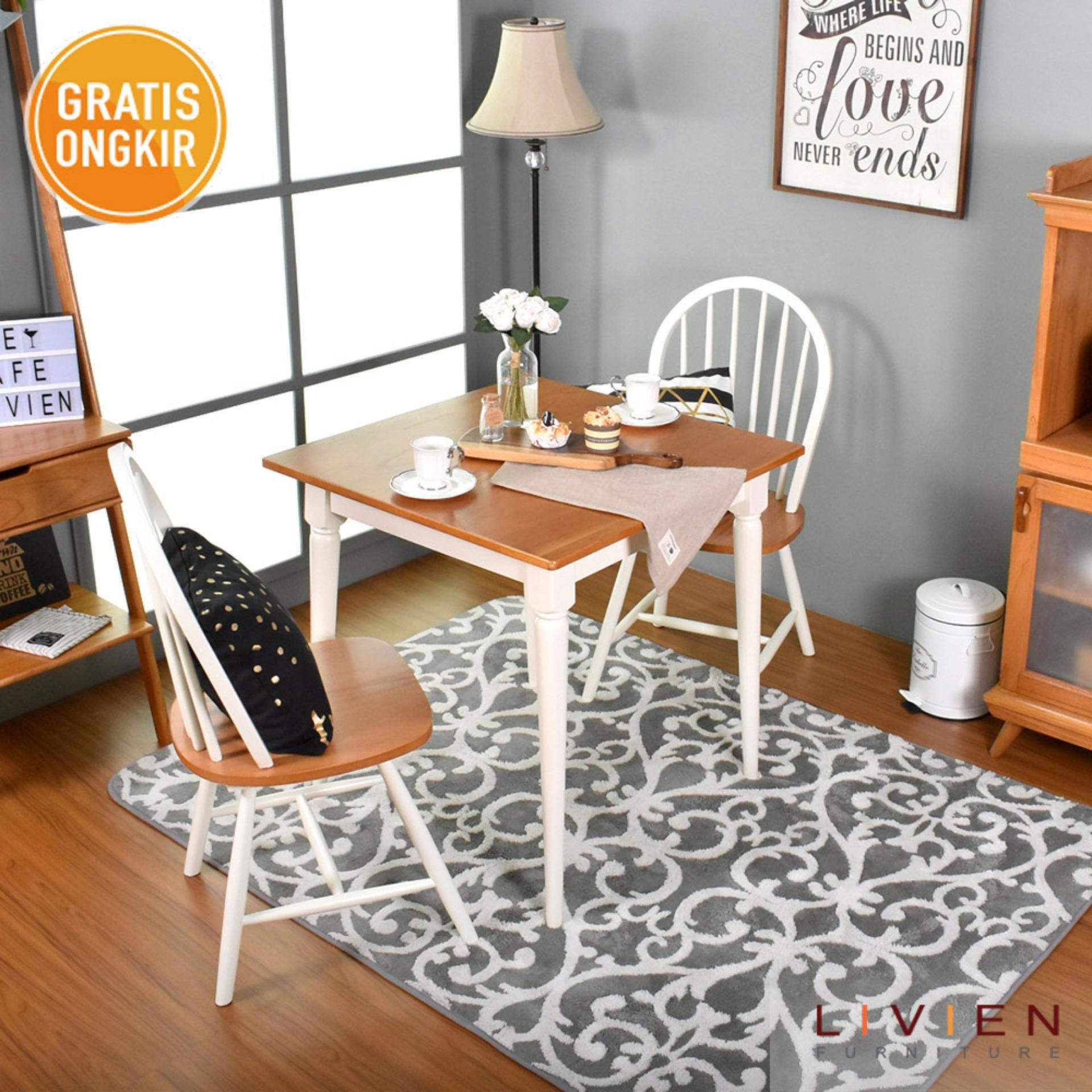 Info Harga Furniture Meja Makan Set Terupdate 2 Kursi Dan 1 Bench 120 Bangku Maple Story