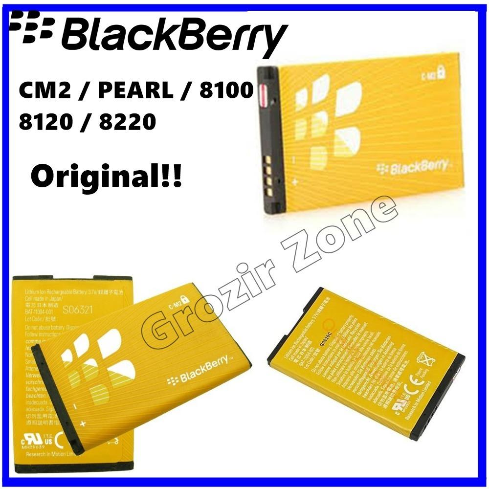 Blackberry Baterai / Battery CM2 For Blackberry Pearl / 8100 / 8120 / 8220 / 8130 Original - Kapasitas 1300mAh ( Grozir Zone )