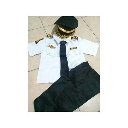 Seragam Anak Pilot Ukuran 5 - 6 thn| Baju Karnaval | Kostum Anak Pilot