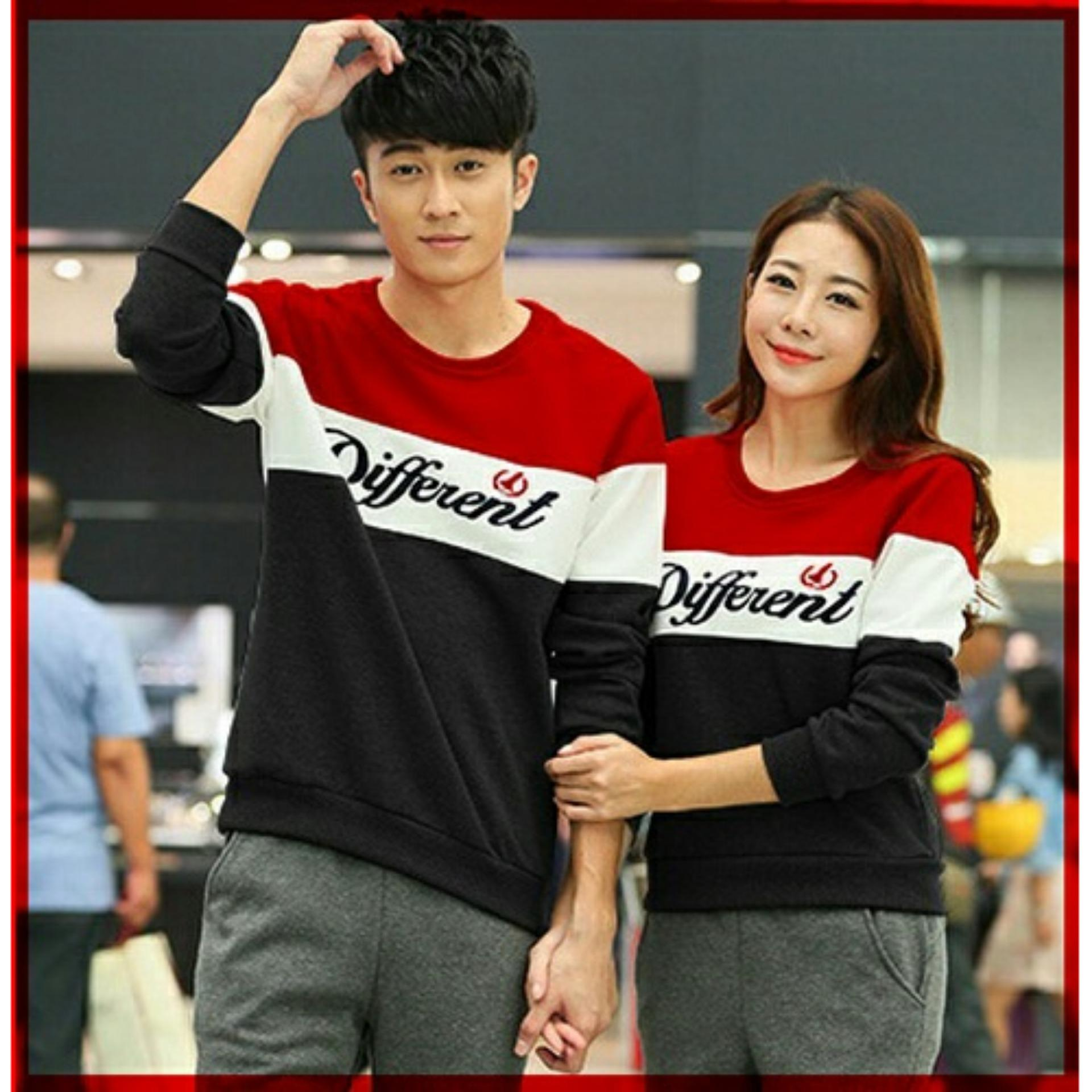Kaos Couple Lengan Panjang Different