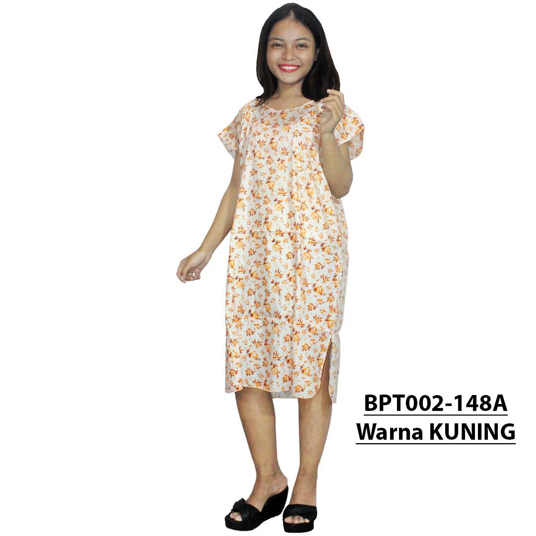 Dress Santai, Midi, Atasan Batik - Motif Bunga - (BPT002-148) Batikalhadi Online