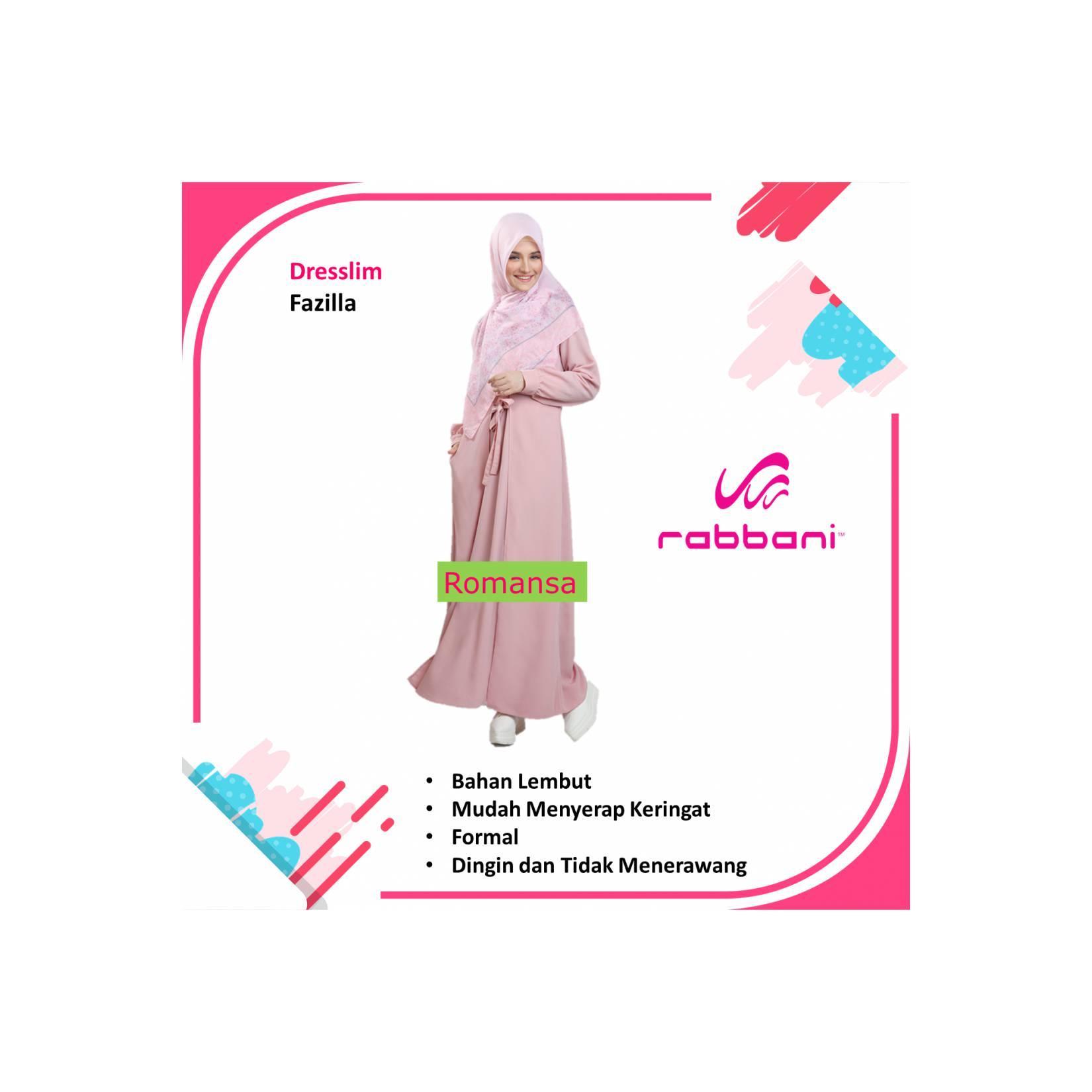 Model Baju Terbaru gamis syar'i RABBANI Dresslim Fazilla
