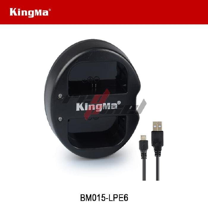 KINGMA BM015-LPE6 DUAL CHARGER FOR CANON LP-E6