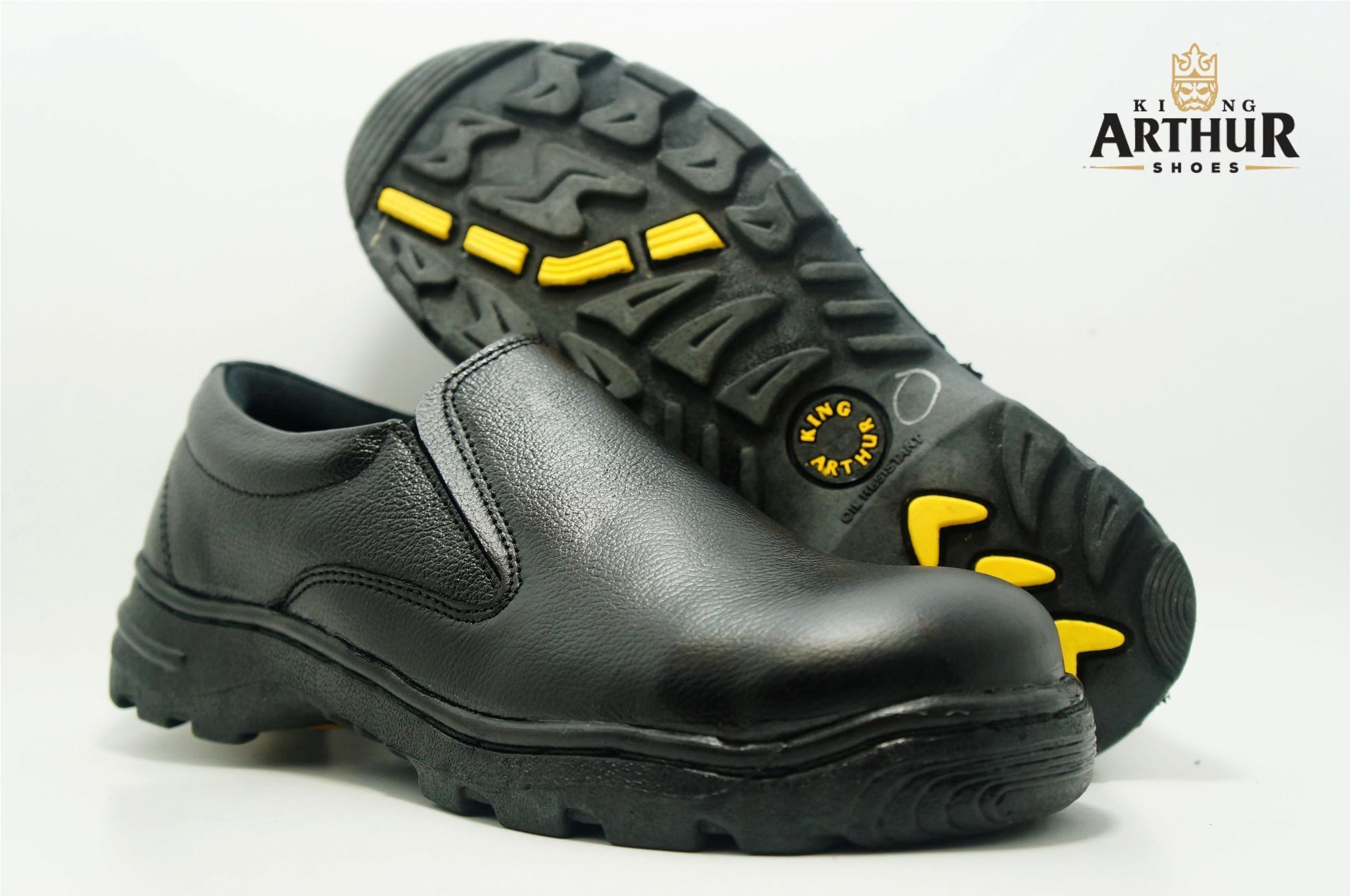 Sepatu Safety Slipon Kulit Asli King Arthur