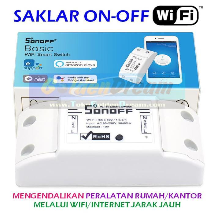 Saklar WiFi Control Internet Switch Jarak Jauh Lampu Remote Sonoff