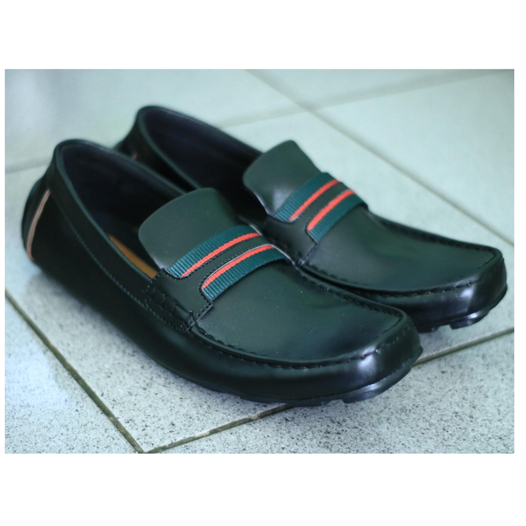Sepatu kulit Slip-on (Guci) GUCCI Pria dan Kasual Pria - Multi Polos (Lokal)