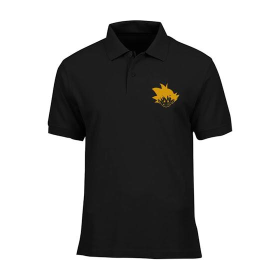 Cross In Mind Baju Polo Dragon Ball - Hitam Gold