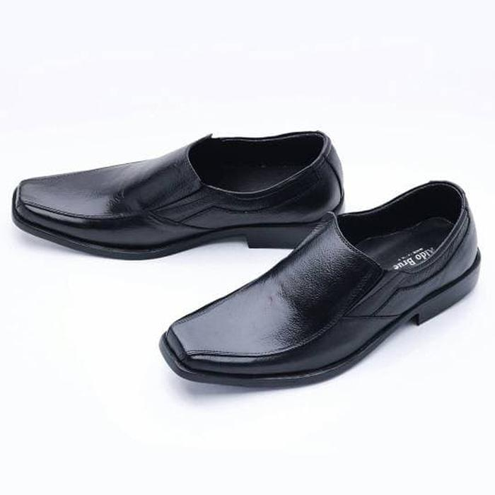 ORIGINAL!!! Import Sepatu Pria Pantofel Formal Slip On Kulit Asli Murah 502Ht Ter