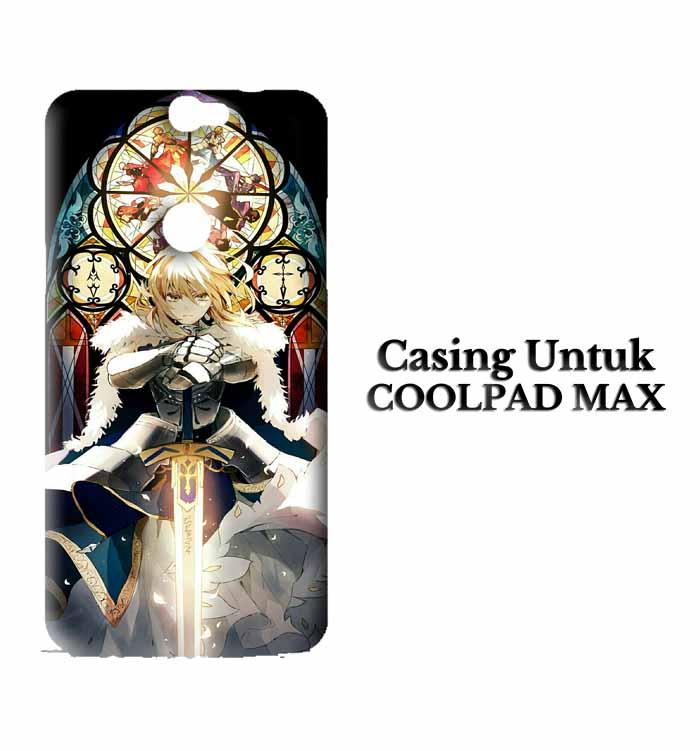 Casing Coolpad Max fate stay night saber fan art Custom Hard Case Cover