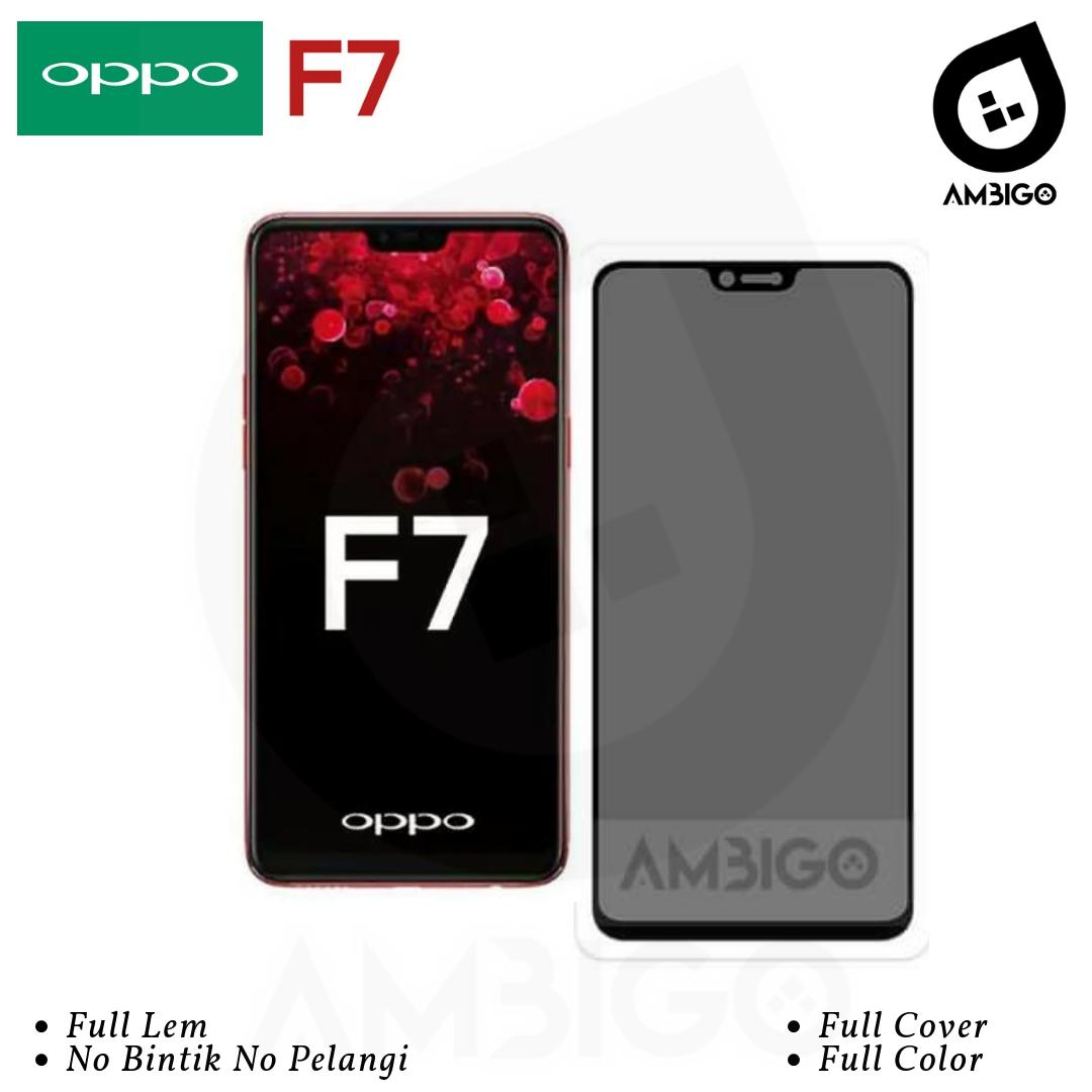 Oppo F7 Tempered Glass Anti SPY PRIVACY 5D Original AMBIGO - Hitam