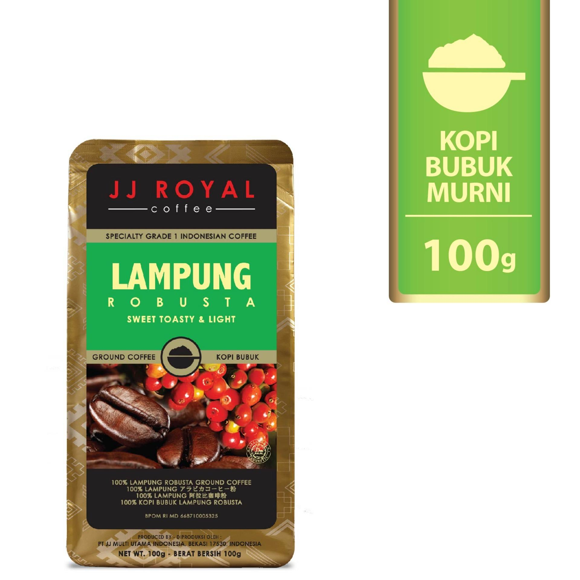 JJ Royal Coffee Lampung Robusta Ground (Kopi Bubuk) 100gr