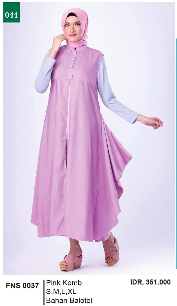 MODEL BAJU TERBARU LONG DRESS MUSLIM KASUAL WANITA