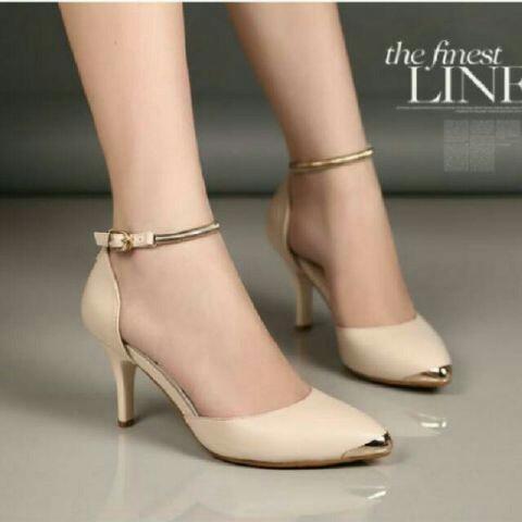 RiSkyshoes - Heels Gelang Mas Murah / High heels murah/ Sepatu kerja