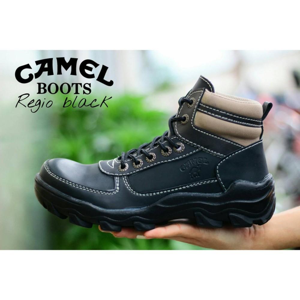 Sepatu CAMEL High Safety Boots Ujung Besi Tracking Touring Motor Adventure Haiking Gunung Sepatu Outdoor PDL Azcost (LOKAL)