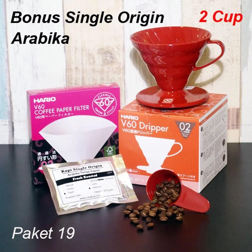Harga Hario Paper Filter Vcf 02 100mk Rp 110000 V60 Vd 02r 40 Dripper Paket 19