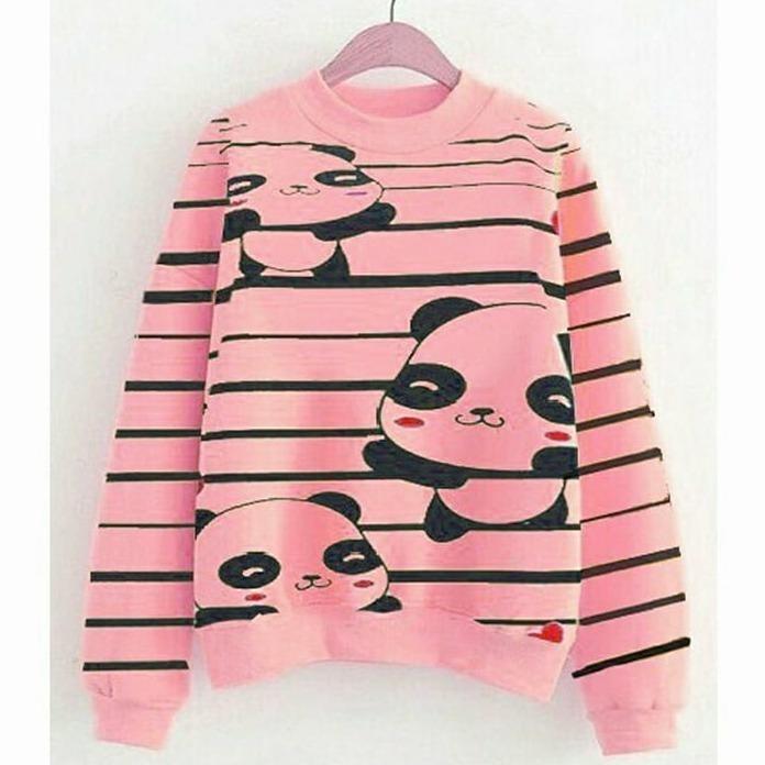 tokolobo sweater panda full print peach