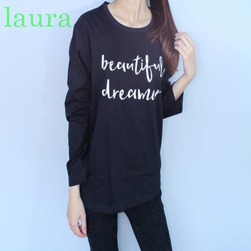 LAURA T-Shirt Wanita ABG/kaos Wanita Beautiful Dreamer Lengan Panjang
