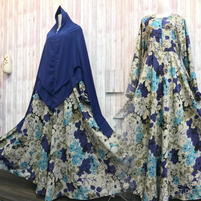 Adzra Gamis Murah syari/busana muslim Wanita - Amanda Dress - Tosca
