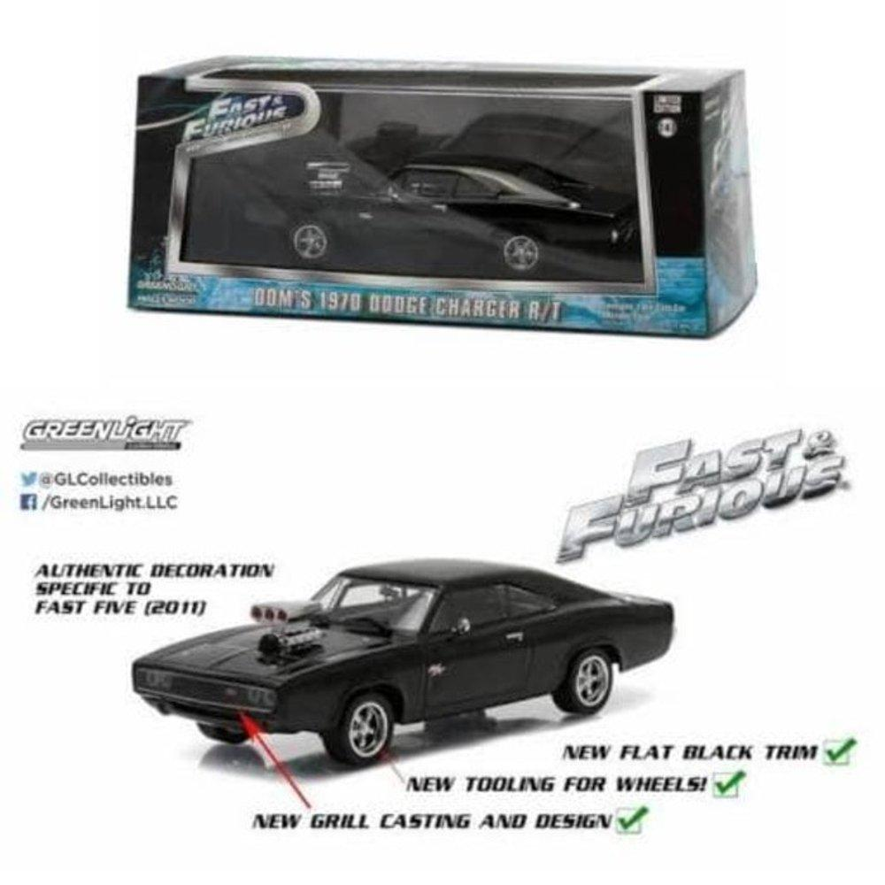 Greenlight Fast Furious Dom 1970 Dodge Charger RT New  # Vovo Toys vovotoys