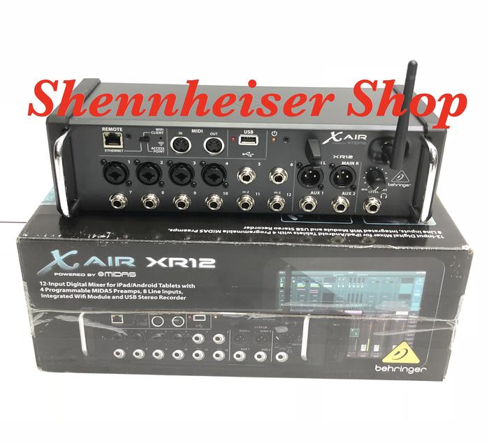 Original  Mixer Digital BEHRINGER X Air XR-12 With Wifi And USB Stereo Recorder