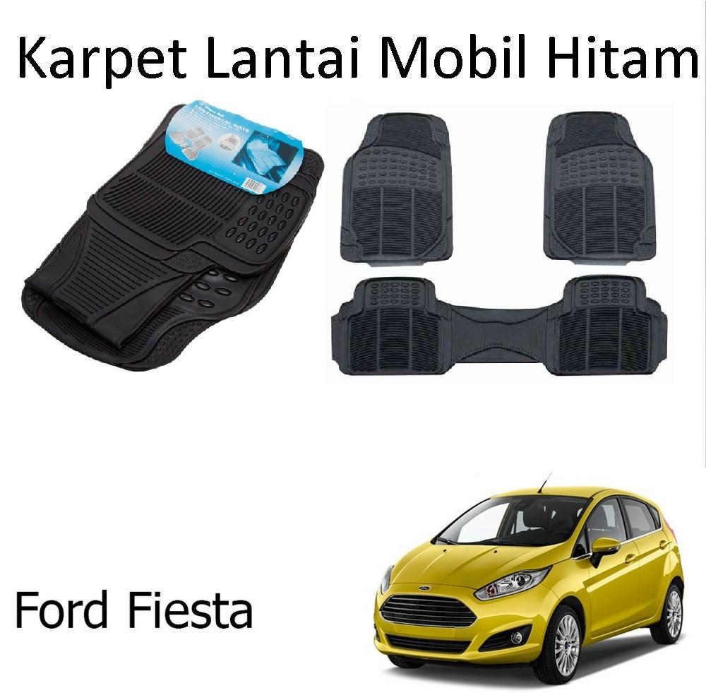 Karpet Mobil Ford Fiesta / Car Carpet / Floor Mats Universal Warna Hitam